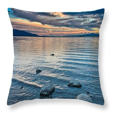 Rocky Lake Vista Throw Pillow