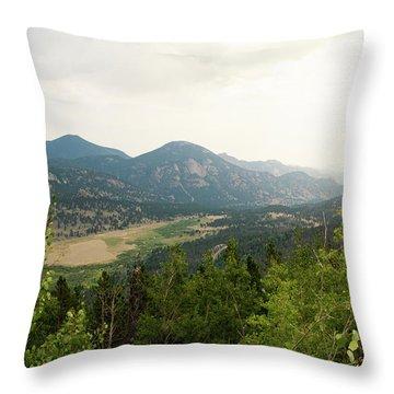 Rocky Mountain Overlook Throw Pillow