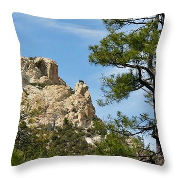 Rocky Peak Throw Pillow