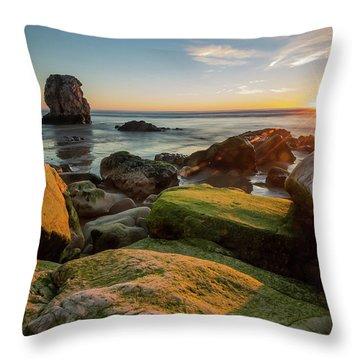 Rocky Pismo Sunset Throw Pillow