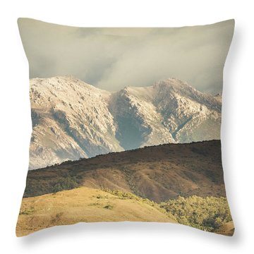 Rocky Rural Region Throw Pillow