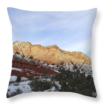 Rocky Slope Throw Pillow