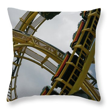Roller Coaster Loops Throw Pillow
