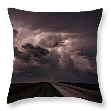 Rollin On Down The Road Throw Pillow