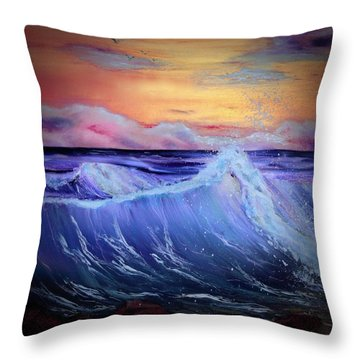 Rollin On The Rocks Throw Pillow