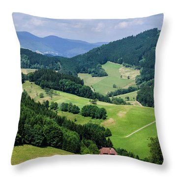 Rolling Hills Of The Black Forest Throw Pillow
