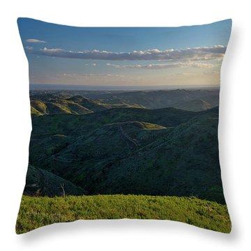 Rolling Mountain - Algarve Throw Pillow