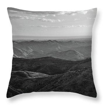Rolling Mountain Throw Pillow