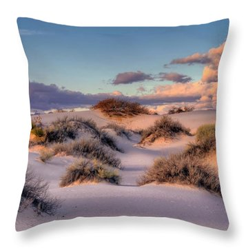 Rolling White Sands  Throw Pillow