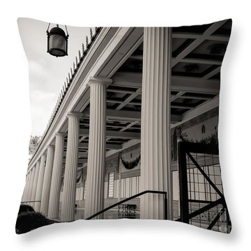 Roman Column Exterior Getty Villa  Throw Pillow
