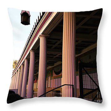 Roman Columns Getty Villa  Throw Pillow