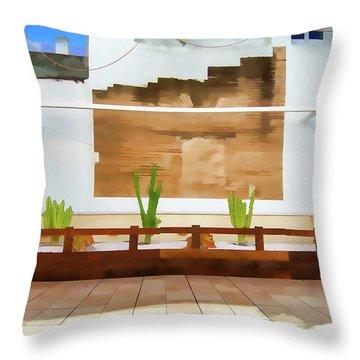 Roof Garden Throw Pillow