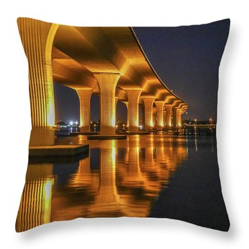 Throw Pillow featuring the photograph Roosevelt Bridge Portrait by Tom Claud