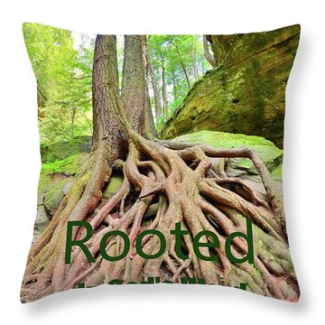 Rooted In God's Word Throw Pillow