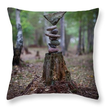 Rootsy Throw Pillow