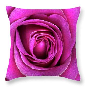 Rosa Big Purple Flower Throw Pillow