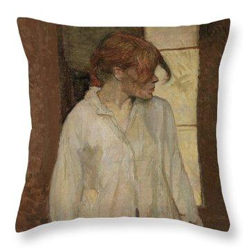 Rosa La Rouge Throw Pillow