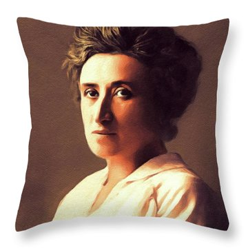 Rosa Luxemburg, Philosopher And Activist Throw Pillow