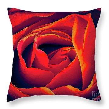 Rose Ablaze Throw Pillow