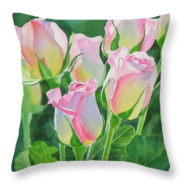 Rose Array Throw Pillow