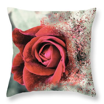 Rose Disbursement Throw Pillow