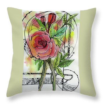 Rose Is Rose Throw Pillow