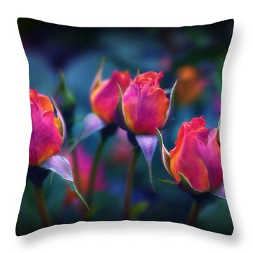 Rose Reverence  Throw Pillow