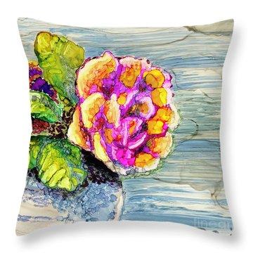 Rose Still Life Throw Pillow