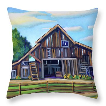 Roseberry Barn Throw Pillow