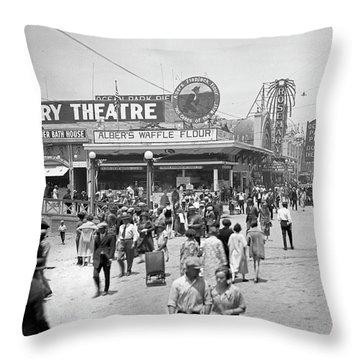 Rosemary Theater Santa Monica Throw Pillow