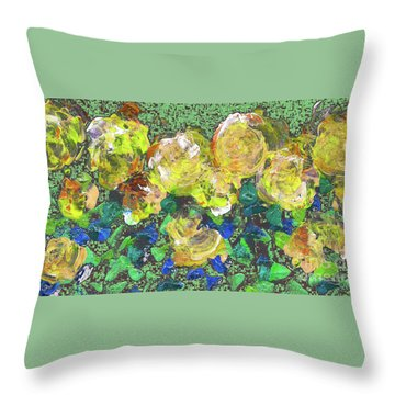 Roses 1001 Yellow Throw Pillow