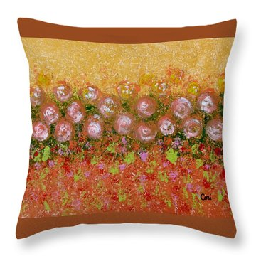 Roses Of Autumn Throw Pillow