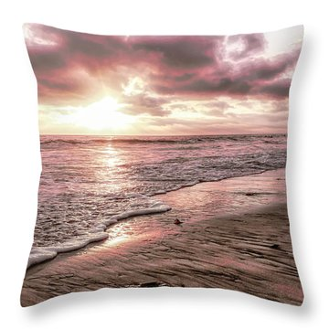 Rosy Sunset Throw Pillow