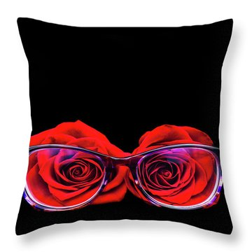 Rosy Vision Throw Pillow