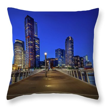 Rottedam Rijnhaven Bridge Throw Pillow