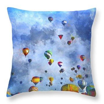 Rough Air Throw Pillow