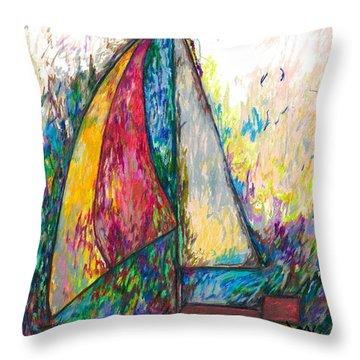 Rough Sailing Throw Pillow