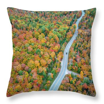 Throw Pillow featuring the photograph Route 42 Aerial by Adam Romanowicz