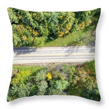 Route 54 Throw Pillow