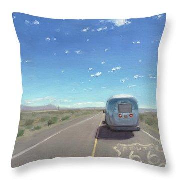 Route 66, Somewhere In California Throw Pillow