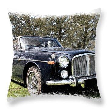 Rover 3.5 Coupe Throw Pillow
