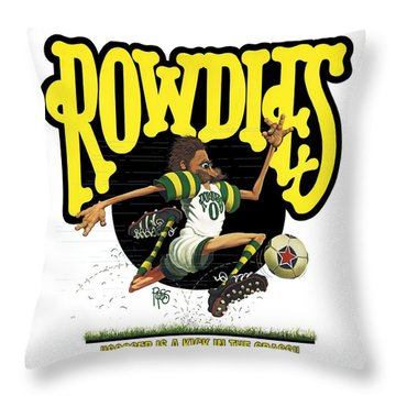Rowdies Old School Throw Pillow