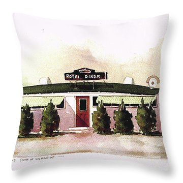 Royal Diner Throw Pillow