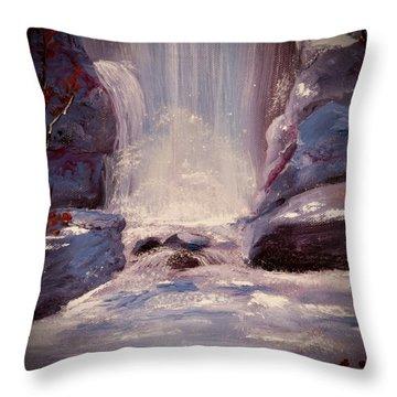 Royal Falls Throw Pillow