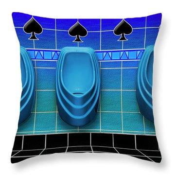 Royal Flush Throw Pillow