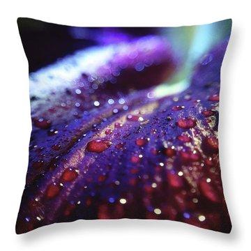 Ruby Blue Throw Pillow