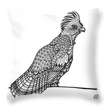 Ruffed Grouse Throw Pillow
