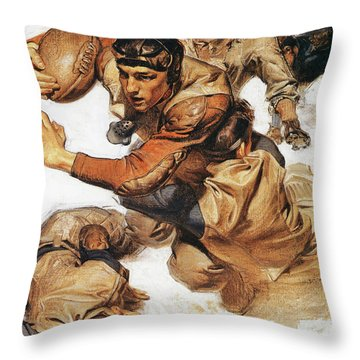 Rugby Player, Tackle - Digital Remastered Edition Throw Pillow