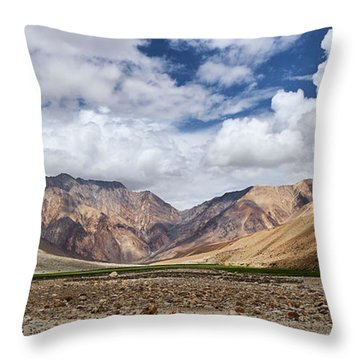 Throw Pillow featuring the photograph Rugged Himalayan Mountains by Whitney Goodey