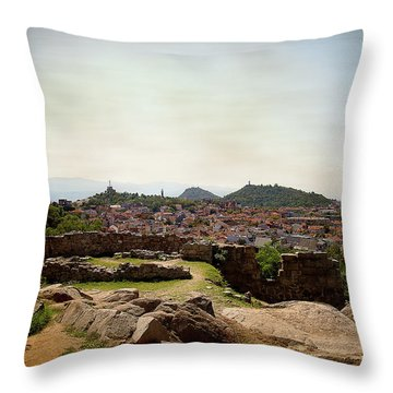 Throw Pillow featuring the photograph Ruins On The Top Of The Hill by Milena Ilieva